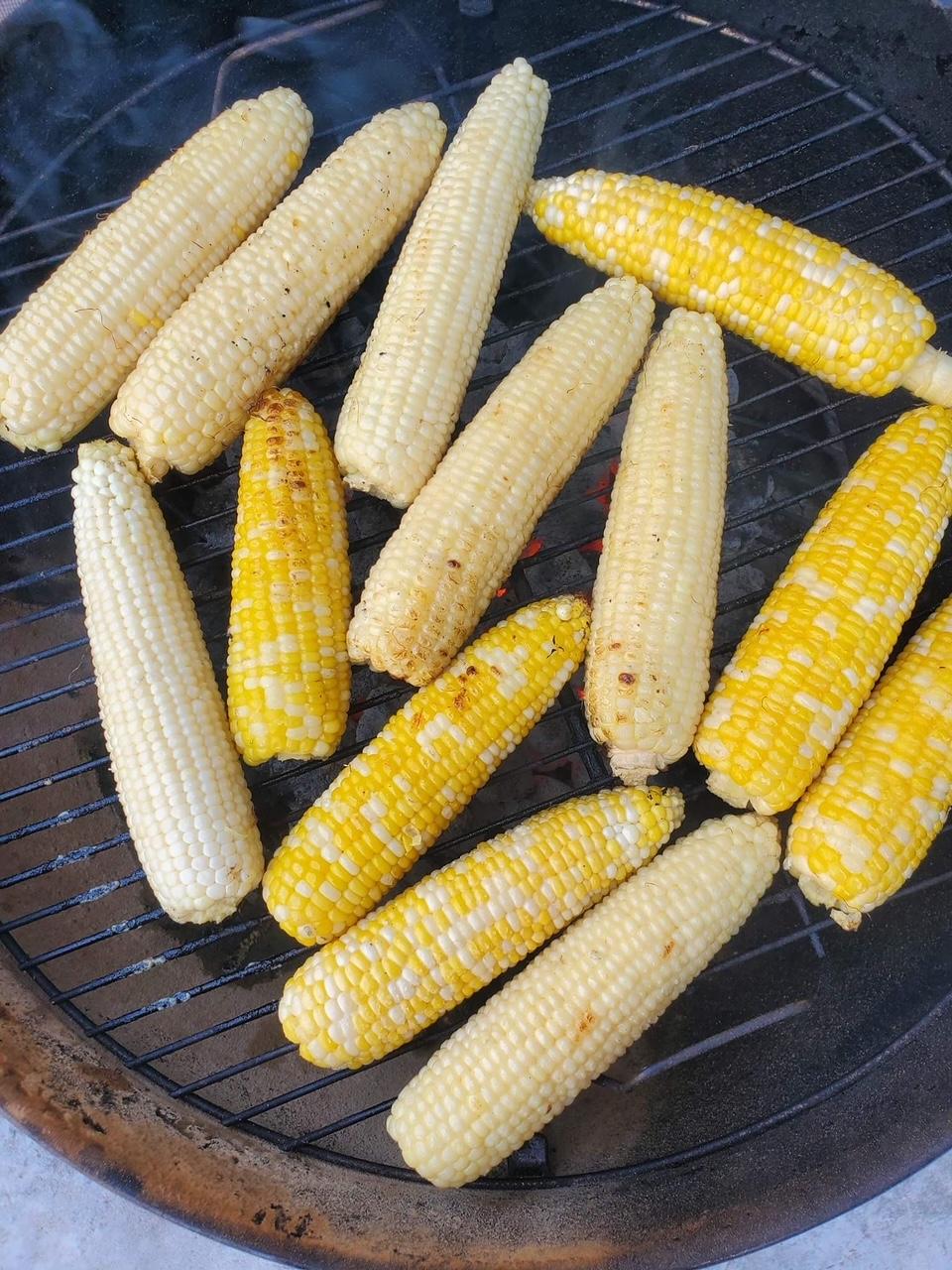 Grilling Fertile Valley's sweet corn
